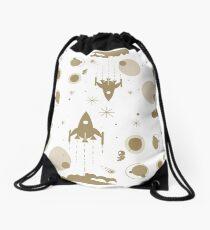 Golden Universe pattern Drawstring Bag