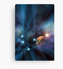 3d Rendered Space Scene Canvas Print