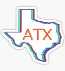 ATX Austin Texas Neon Lights Retro Sticker