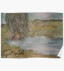 Willow On Pond Poster