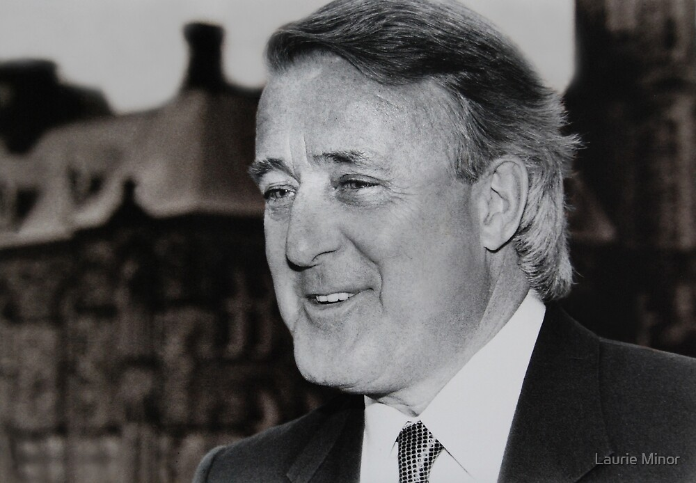 Former Cdn Prime Minister Brian Mulroney by Laurie Minor