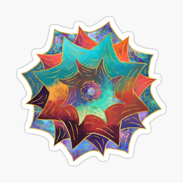 Psychedelic Rose Sticker