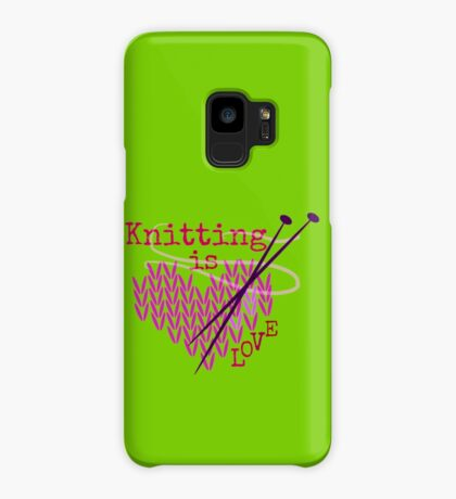 Knitting is LOVE ... Case/Skin for Samsung Galaxy