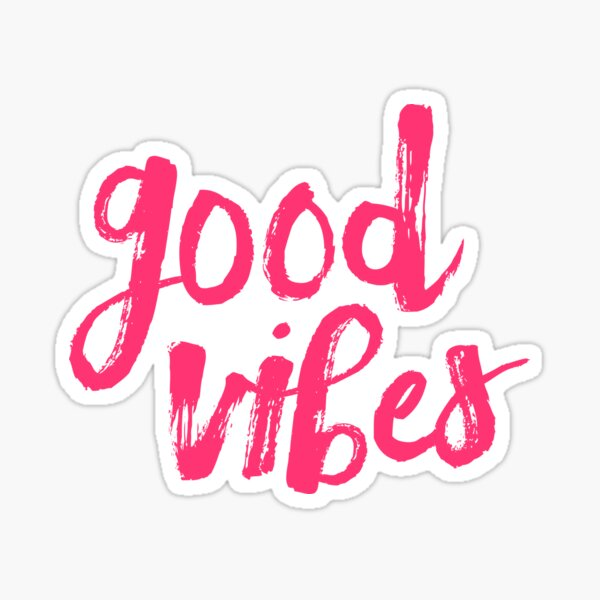 Good Vibes // Retro Vintage Green Pineapple Typography Poster and Pattern Sticker
