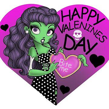 My Zombie Valentine  by Redhead-K