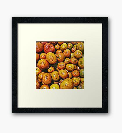 #DeepDream Fruits 5x5K v1454417933 Framed Print