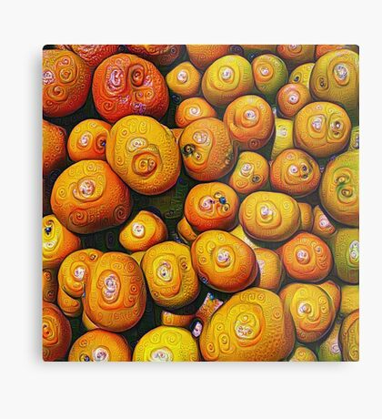 #DeepDream Fruits 5x5K v1454417933 Metal Print