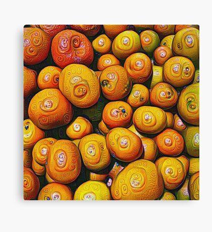 #DeepDream Fruits 5x5K v1454417933 Canvas Print
