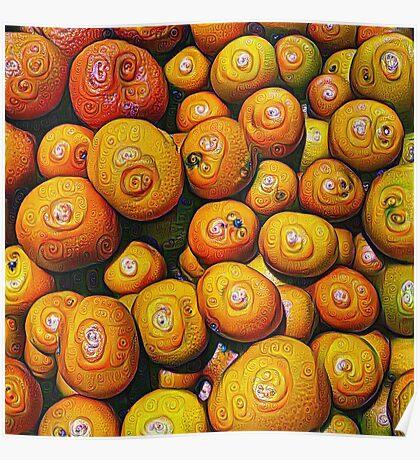 #DeepDream Fruits 5x5K v1454417933 Poster