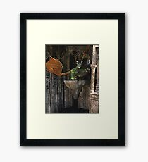 Dragon & Castle Fantasy Artwork Framed Print