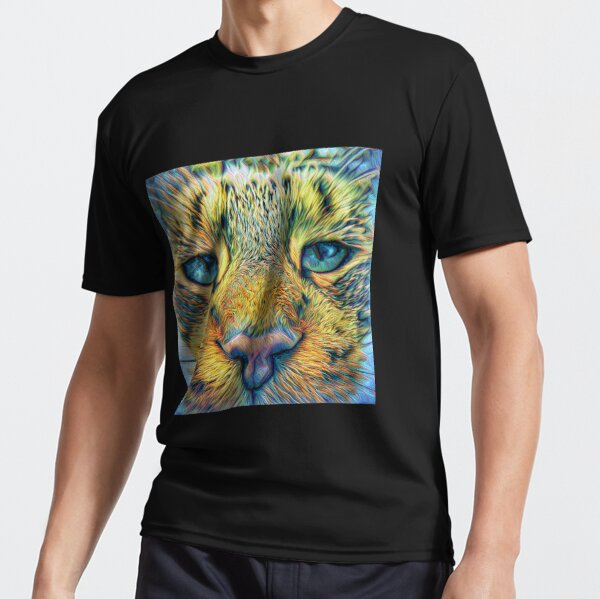 #DeepDreamed Cat v1449127170 Active T-Shirt