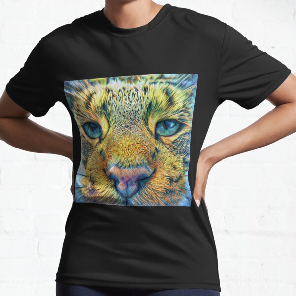 #DeepDreamed Cat v1449127170 Active T-Shirt