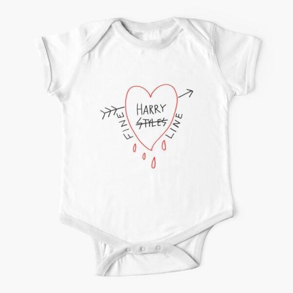 arrow styles heart Short Sleeve Baby One-Piece