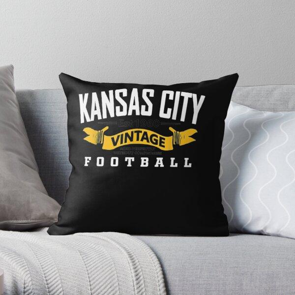 Kansas-City-Varsity-Style-Retro-Football-Since-1960 Throw Pillow