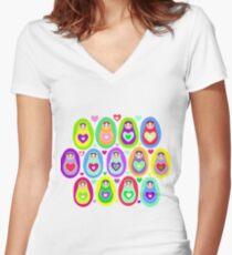 cute dolls Matryoshka Women's Fitted V-Neck T-Shirt