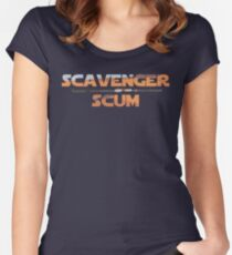 SCAVENGER SCUM Women's Fitted Scoop T-Shirt