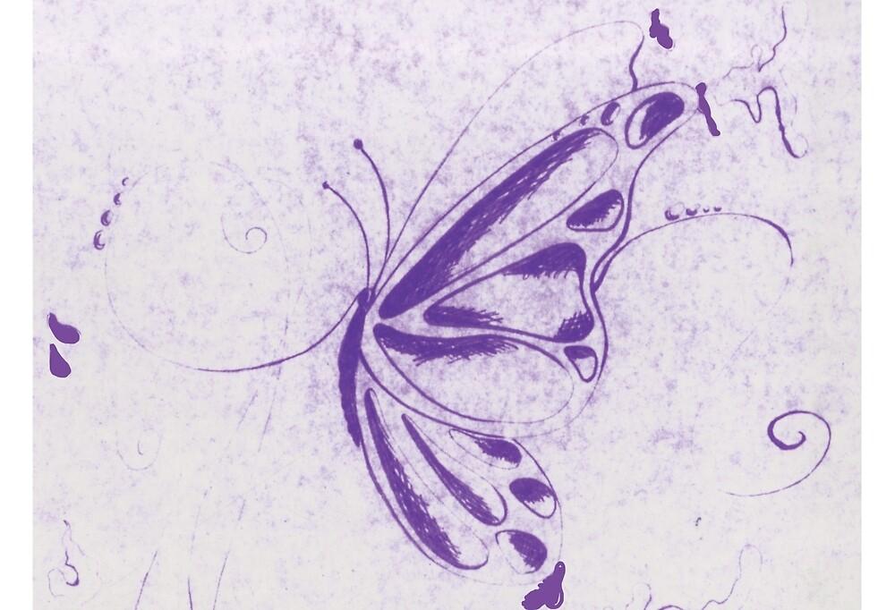 Purple Butterfly by Wybranska
