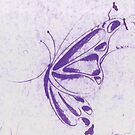 Purple Butterfly by Wybranska