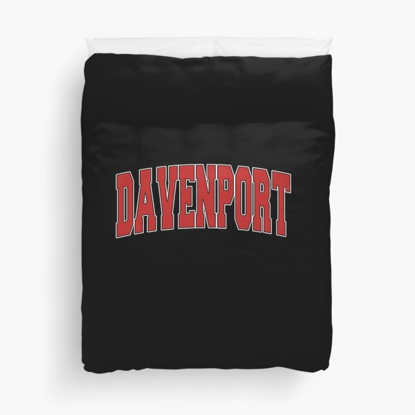Davenport Ia Iowa Varsity Style Usa Vintage Sports Pullover Hoodie Duvet Cover