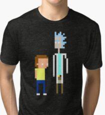 Rick and Morty Pixels  Tri-blend T-Shirt