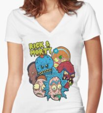 Rick and Morty Universe  Women's Fitted V-Neck T-Shirt