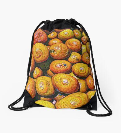 #DeepDream Fruits 5x5K v1454417933 Drawstring Bag
