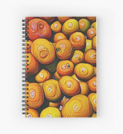 #DeepDream Fruits 5x5K v1454417933 Spiral Notebook