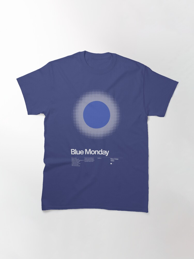 Alternate view of New Order - Blue Monday 1983 - New Wave song Minimalistic Swiss Graphic Design Classic T-Shirt