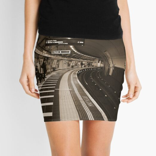 The Art of London Underground - Bakerloo Line at Waterloo Station Mini Skirt