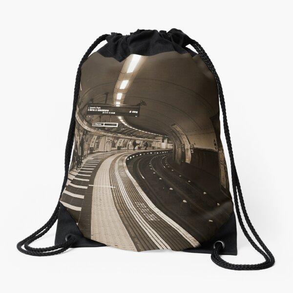 The Art of London Underground - Bakerloo Line at Waterloo Station Drawstring Bag