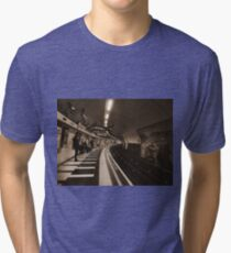 The Art of London Underground - Bakerloo Line at Waterloo Station Tri-blend T-Shirt