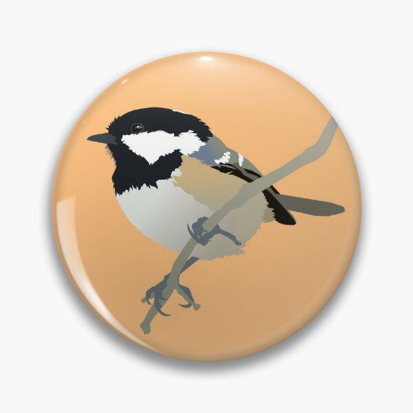Wooden Bird Brooch Mother/'s Day Gift Coaltit Bird Brooch