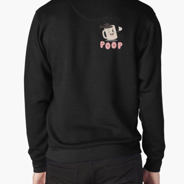 TIME TO POOP - pocket print Pullover Sweatshirt