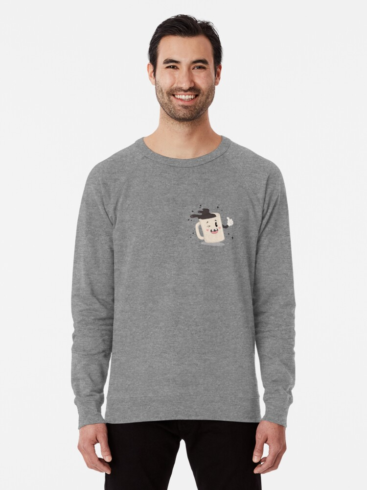 Alternate view of I LOVE COFFEE - pocket print Lightweight Sweatshirt