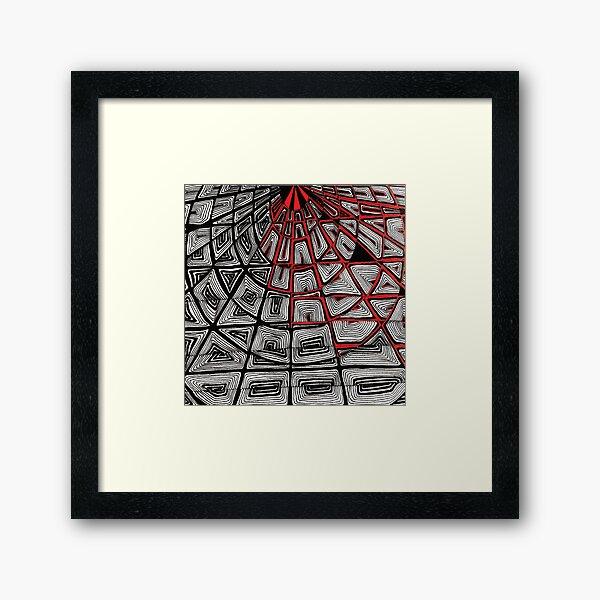 Zentangle II Gerahmter Kunstdruck