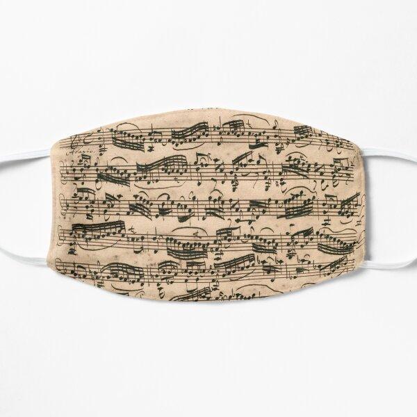 Bach | Original handwritten score by Johann Sebastian Bach Flat Mask