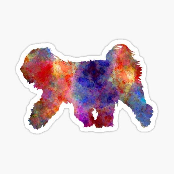 Tibetan Terrier in watercolor Sticker