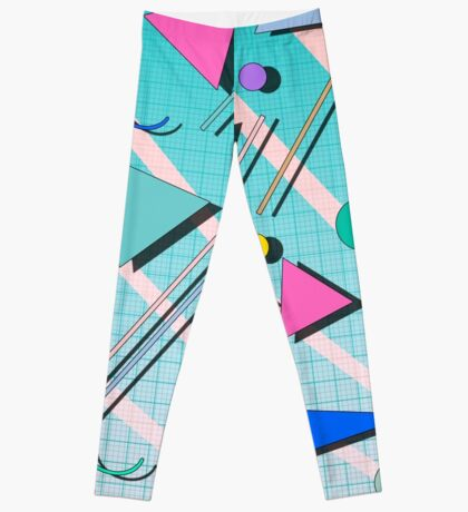 80s Geometric Shapes Leggings