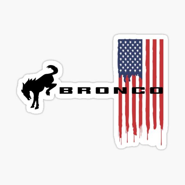 Ford Bronco Emblem on USA Flag Sticker