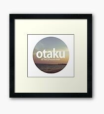 otaku.till hell freezes over-Version #2 Framed Print