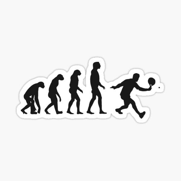 Padel Evolution Funny Padel Design Idea de regalo Tenis Pádel Tennis negro Pegatina
