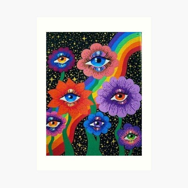 indie aesthetic eyes Art Print