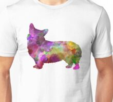 Welsh Corgi Cardigan in watercolor Unisex T-Shirt