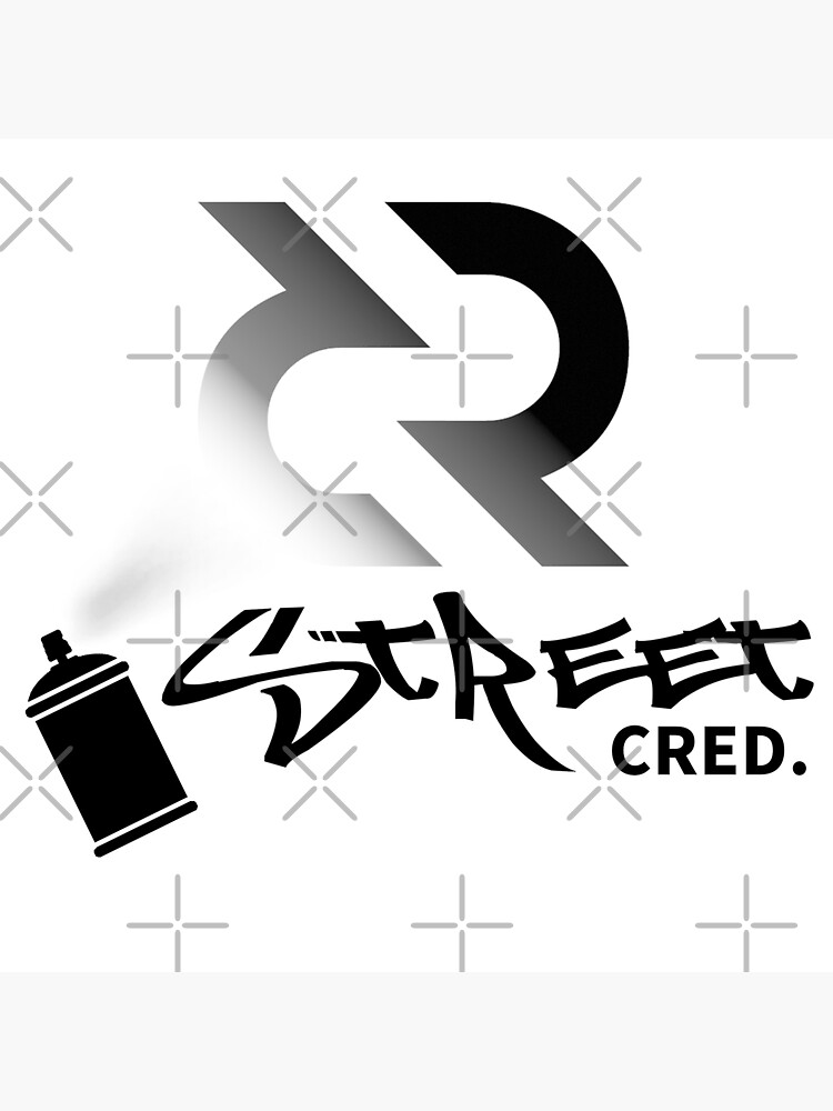 (sticker) Street Cred ™ v4 'Design timestamped by https://timestamp.decred.org/' by OfficialCryptos