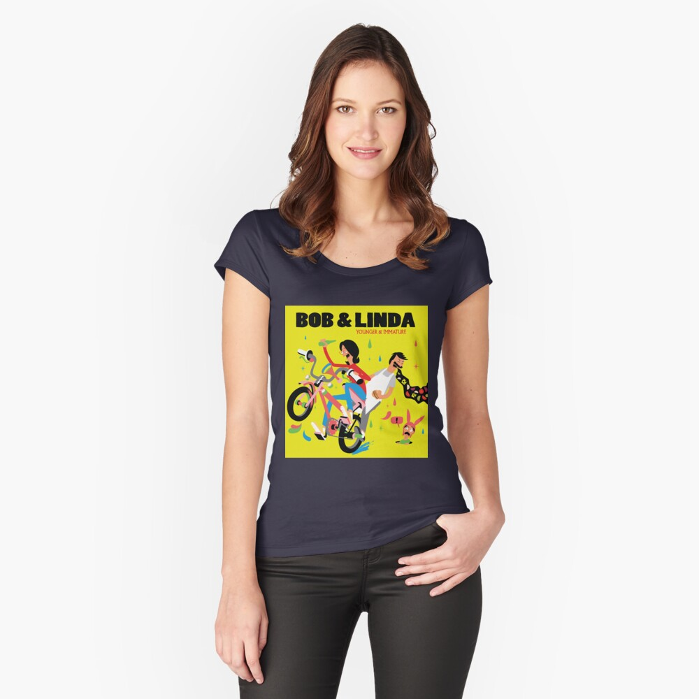 Bob & Linda - Younger & Immature Women's Fitted Scoop T-Shirt Front
