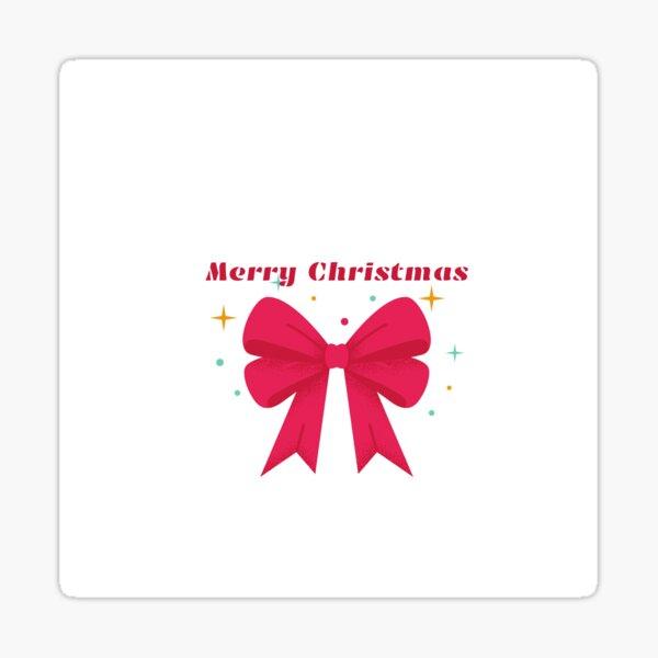Merry Chrismas ribbon motif for gifts Sticker