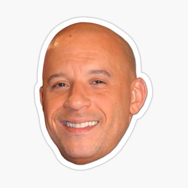 10 Vin Diesel Head | Star der Blockbuster-Actionfilme | 2020 | Digitale Kunst Sticker