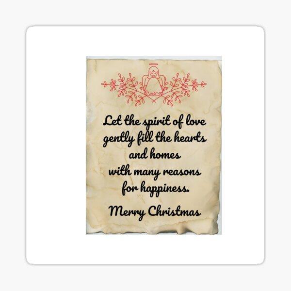 Beautiful Christmas wish motif Sticker