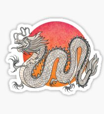 Champagne Dragon Sticker