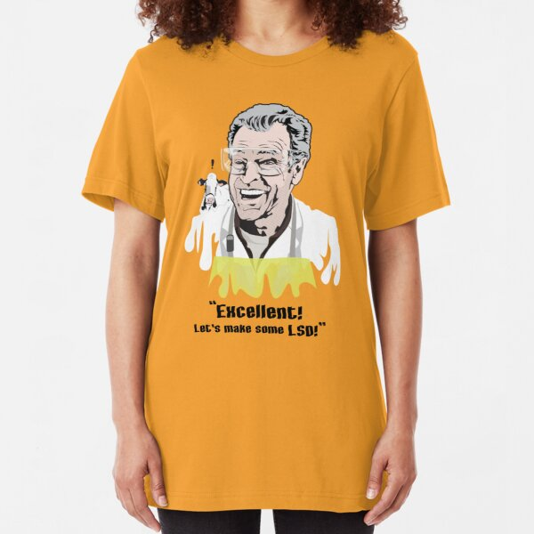 """Walter Bishop - """"Excellent! Let's make some LSD!"""""""" Slim Fit T-Shirt"""
